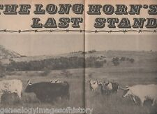 Texas Longhorn Cattle History - Their Last Stand+Bertillion,Chishholm,Coronado