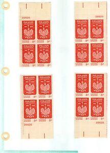 US 1313 Polands Millennium  5c  set of 4 pb  MNH issued 1966  #28626