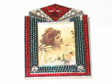 COMMUNIST RUSSIAN PIN MOSCOW MID 80s USSR PICTURE FRAME WITH RED STAR 1.5x1.25 !