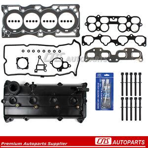 Head Gasket Bolt Set + Valve Cover Fits 02-06 Nissan 2.5L Altima Sentra QR25DE