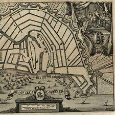 Amsterdam Holland Nederland Netherlands 1720 Harrewijn Foppens city plan map