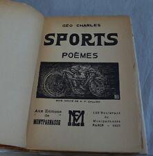 Géo CHARLES - Sports, poèmes - Bois gravé de A.P. Gallien - 1923