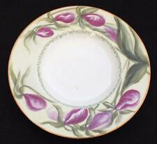 """1900 GDA LIMOGES Signed Artist H.W.C. Hand Painted Purple ORCHIDS 6 3/4"""" Plate#1"""