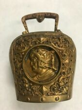 Vintage Brass carved bell estate 1943 gladiator 3 inch mid century collectible
