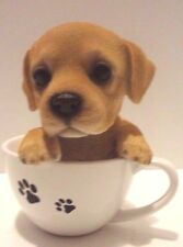 Tea Cup Labrador Puppy Dog- Life Like Figurine Statue Home/Garden NEW SERIES