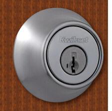 Kwikset SmartKey Single Cylinder Deadbolt Door Lock Satin Chrome Brushed Silver