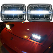 "Pair 5x7"" 7x6"" Led Hi/Lo Beam Projector Headlight for Jeep YJ Cherokee XJ chevy"
