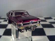 70 CHEVY NOVA SS Rare Black Cherry T JET 500 HO SCALE SLOT CAR Cool-Wheels