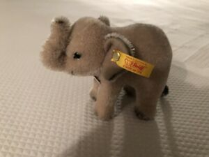 Adorable Steiff Miniature Eli Mohair Elephant New Condition