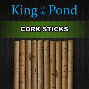 Cork sticks 6mm dia x10 pcs - carp fishing, pop up, carp rigs