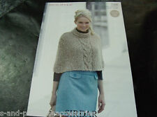 Sirdar bouffle soft & light chunky knitting pattern 7386 cape