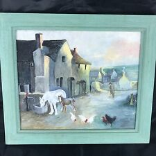 Carnon Downs Cornwall  Original Oil/board Painting 37x32cm Horse F B Boydell