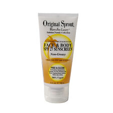 ORIGINAL SPROUT Face & Body SPF 27  Sunscreen 3 oz