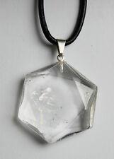 Edelstein-Anhänger, Hexagon, Bergkristall, 25 mm