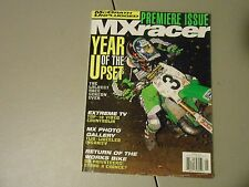 SPRING 1997 MX RACER MAGAZINE,PREMIERE ISSUE IST EVER,MCGRATH TALKS,WORKS BIKES