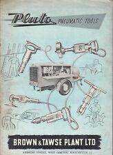 Pluto Pneumatic tools. Brown & Tawse Plant catalogue