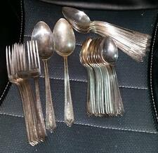 25pc International CARMEN SILVERPLATE STRATFORD PLATE SECTIONAL Spoons Forks
