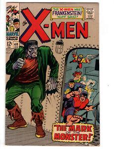 X-MEN #40 (1968) - GRADE 6.0 - FRANKENSTEIN'S ROBOT - MARK OF THE MONSTER!