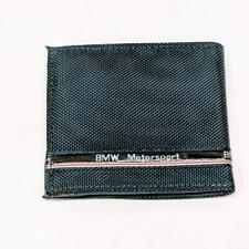 BMW Motorsport Blue Woven Bi-Fold Fabric Wallet Credit Card Holder Coin Pouch