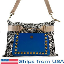 Hobo Satchel Messenger Bag Tote PU Leather Purse Shoulder School Handbag Womens