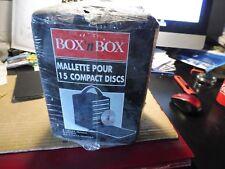 Malette  portale pour 15 compact Discs, Nylon, noir