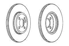 Ferodo Front Brake Discs Pair For Mini CLUBMAN R55 2006-2015 MINI