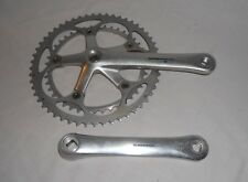 Vintage Shimano 600 double crankset road bike 7 8 speed chainring race FC-6400