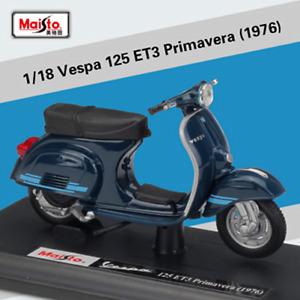 Maisto 1:18 Vespa 125 ET3 Primavera 1976 Motorcycle Scooter Model Toy New