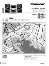 Panasonic SA-AK410 SA-AK510 SA-AK610 CD Stereo System Instruction Manual