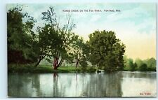 Humes Grove on the Fox River Portage Wisconsin Vintage Postcard A93