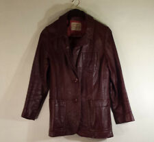 VNTG LEATHER BY NEW ENGLAND SPORTSWEAR CO Jacket/Coat Chocolate Brown Women's