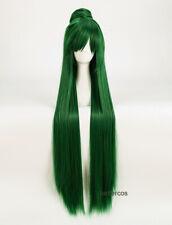 Anime Sailor Moon Sailor Pluto Meiou Setsuna Straight Green Cosplay Wig +Wig Cap