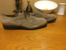 Vintage Hush Puppies Shoes Men's Neutral Color Suede Leather Size 13M SHIPS FREE