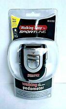 Pedometer By Sportline With Safety Alarm 100 dB Digital Clock & Daily Alarm NEW