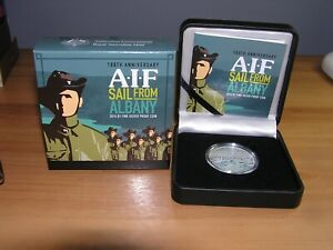 2014 100th Anniversary AIF SAIL FROM ALBANY $1 FINE SILVER 1oz Proof Coin