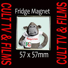 PG TIPS MONKEY KEEP IT TEA FRIDGE MAGNET  -  FRIDGE  MAGNET 57X57mm