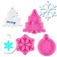 Kuchenform Silikon Schneeflocke Weihnachtsbaum Seife Anhänger Schimmel