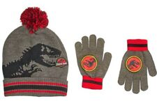 Jurassic Welt Park Indominus Rex Wintermütze & Handschuhe Set mit / Pom-Pom
