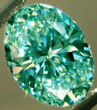 17.08 ct VVS1/WHITE BLUE GREEN COLOR LOOSE OVAL MOISSANITE 4 RING/PENDANT