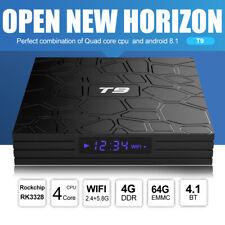 T9 Android 8.1 TV-Box Quad-Core 64bit 4 + 64 GB 4K VP9 H.265 WiFi BT4.1 HD J4S5