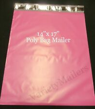 17 Large Pink Poly Bag Mailers 14x17 Self Sealing Shipping Envelope Bags