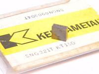 NEW SURPLUS 3PCS. KENNAMETAL SNG 321T  GRADE: KT150 CERMET INSERTS