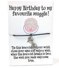 Wish Bracelet Harry Potter Friendship  Bracelet,Happy Birthday Muggle Gift,Card
