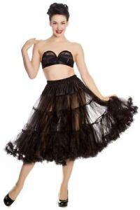 langer schwarzer Petticoat Hell Bunny 5180 Unterrock Tüll Rockabilly