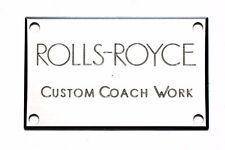 Rolls-Royce Springfield Silver Ghost Custom Coachwork Badge