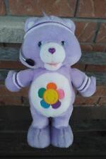 "FIT 'N FUN PLUSH 14"" PURPLE HARMONY CARE BEAR 2004 SINGS & EXERCISES"