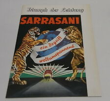 Programma Circus / programm Sarrasani Zirkus 60,70's / 19 pagina's