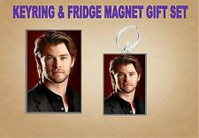 Chris Hemsworth Key Ring & Fridge Magnet Set