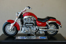 TRIUMPH ROCKET THREE  1/18th  MODEL  MOTORCYCLE  RED
