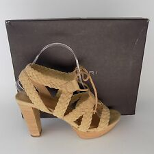 Tahari TA-Denny Fawn Suede Lace Up Stiletto Heels Women Size 7.5 M AL2041